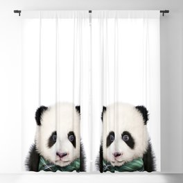 Baby Panda With Bow Tie, Baby Animals Art Print By Synplus Blackout Curtain