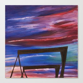 HARLAND AND WOLFF CRANES - Abstract Sky Oil Painting Canvas Print