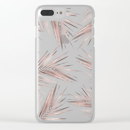 Tropical Leaves 4 Clear iPhone Case