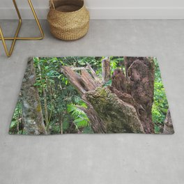 A cyclone damaged tree in the rain forest Rug