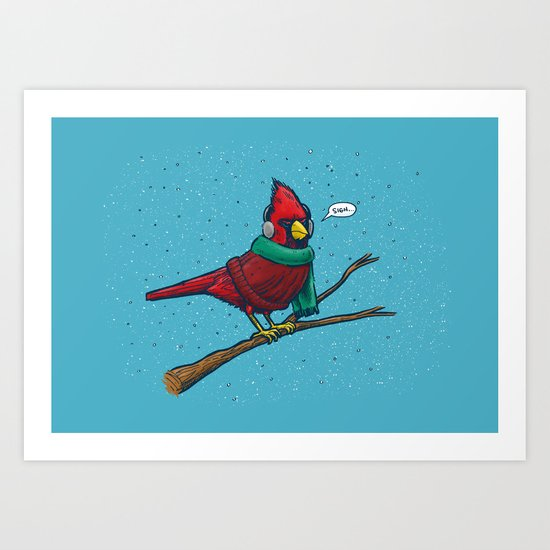 Annoyed IL Birds: The Cardinal Art Print
