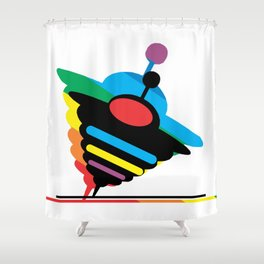 Spinning Top Abstract Shower Curtain
