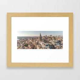 Galata Tower Istanbul Turkey Framed Art Print