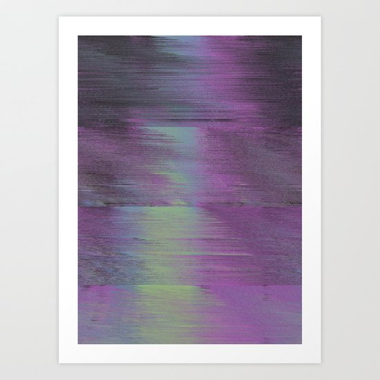 Glitch Haze #1 Art Print