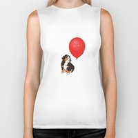balloon Biker Tanks featuring Balloon by Meredith Mackworth-Praed