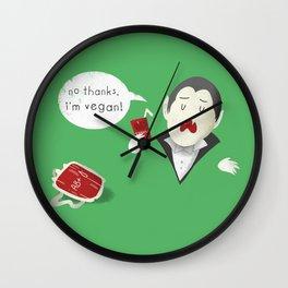 No thanks, I'm vegan (vampire) Wall Clock