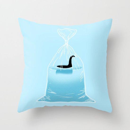 Loch Ness Golden Fish Throw Pillow