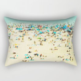 Coney Island Beach Rectangular Pillow