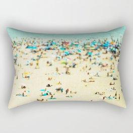 Coney Island Beach Rectangular Pillow