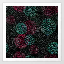 Seamless Patern Painting [LIGHT BLUE | PINK] Art Print