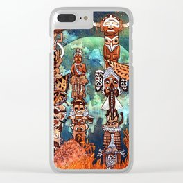 Totems serie Clear iPhone Case