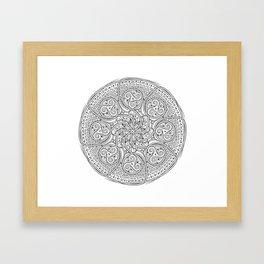 Celtic Swirl Mandala Framed Art Print