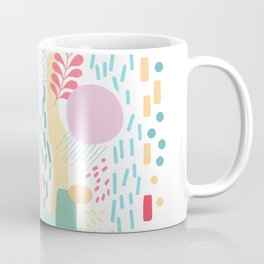 Abstract Nature - Colourful Doodle Pattern 3 Coffee Mug
