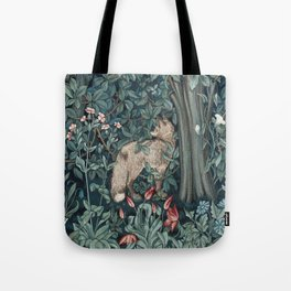 William Morris Forest Fox Greenery apestry Tote Bag