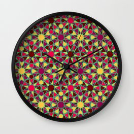 Spanish Director - Al-Nasir Pattern Red with Green Lines Wall Clock