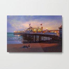 Brighton Pier Twilight Metal Print