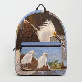 Snowy Egrets - The Expert Fisherman Backpack