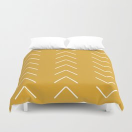V / Yellow Duvet Cover