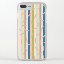 Colorful dash pattern Clear iPhone Case