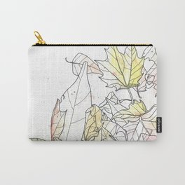 Autumn Leaves Watercolor Carry-All Pouch