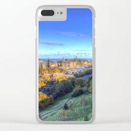 Edinburgh City Panorama Clear iPhone Case