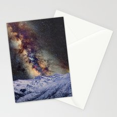 The star Antares, Scorpius and Sagitariuss over the hight mountains. The milky way. Stationery Cards