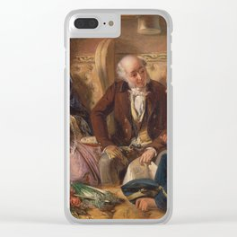 Abraham Solomon - And at first meeting loved (1855) Clear iPhone Case