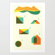 Campground Map Art Print