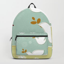 Santa and dove of peace Backpack