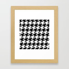 cats-tooth in black and white (houndstooth pattern) Framed Art Print