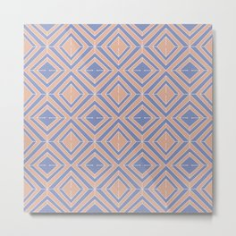 GEOMETRIC VINTAGE BLUSH PATTERN Metal Print
