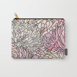 Moon Flowers Nature Minimal Pink Gold Carry-All Pouch