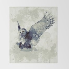 Cute owl Throw Blanket