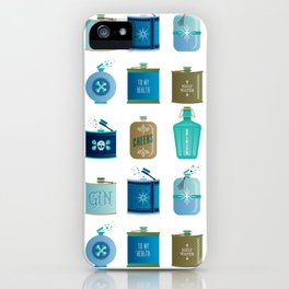 Flask Collection – Blue and Tan Palette iPhone Case