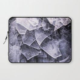 Cracked Ice Tiles In Lake Shore #decor #buyart #society6 Laptop Sleeve