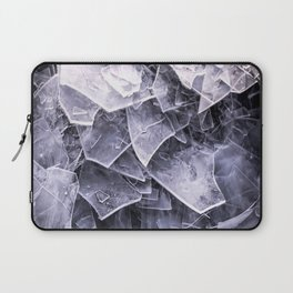 Cracked Ice Tiles In Lake Shore #decor #buyart #society6 Laptop Sleeve