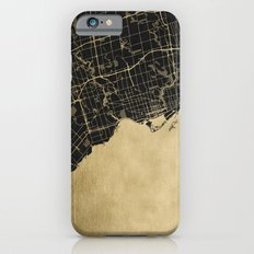 Toronto Gold and Black Street Map Slim Case iPhone 6s