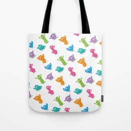 Happy colours cheering -pattern Tote Bag