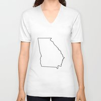 georgia V-neck T-shirts featuring Georgia by mrTidwell
