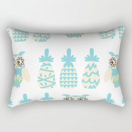 Owls and pineapples Rectangular Pillow