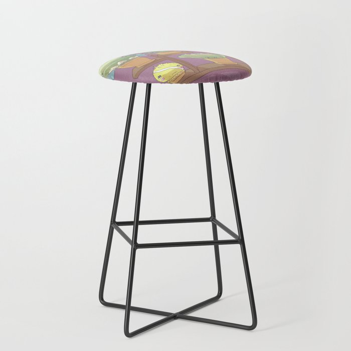 August's Plants Bar Stool
