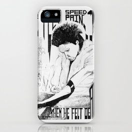 He Felt Speed iPhone Case