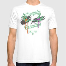 Deeply Creative SMALL Mens Fitted Tee White