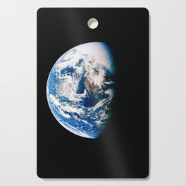 Earth Is The Most Powerful And Energetic Planet, Galaxy Background, Universe Large Print, Space Wall Cutting Board