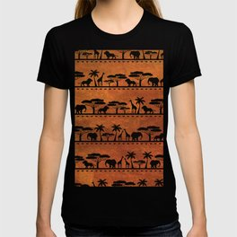 African Animal Pattern T-shirt