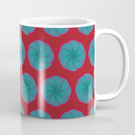 Turquoise flowers Coffee Mug