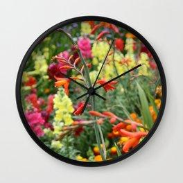 Flowers in the Kitchen Garden Wall Clock