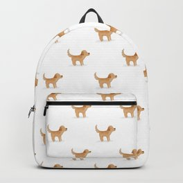 Golden Retriever Watercolor Illustration Backpack