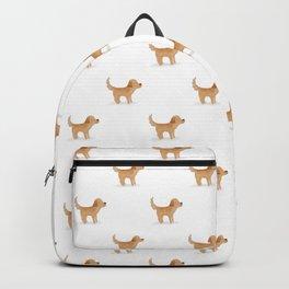 Golden Retriever Watercolor Illustration Backpack