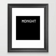 Midnight (BLCK #6) Framed Art Print